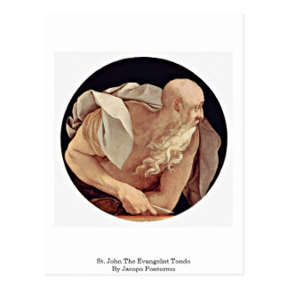 St. John The Evangelist Tondo By Jacopo Pontormo Postcard