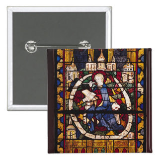 St. John the Evangelist writing the Apocalypse 2 Inch Square Button