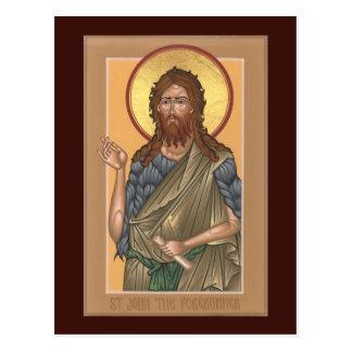 St John the Forerunner Prayer Card Postcard