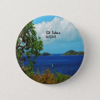 St.John U.S.V.I. Pinback Button