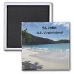 St. John, U.S. Virgin Island 2 Inch Square Magnet