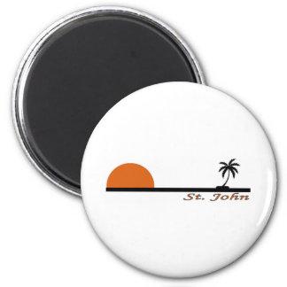 St. John, US Virgin Islands 2 Inch Round Magnet
