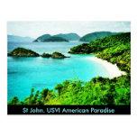 St John usvi Trunk Bay American Paradise postcard Postcards