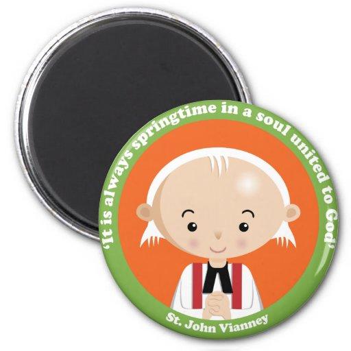 St. John Vianney 2 Inch Round Magnet