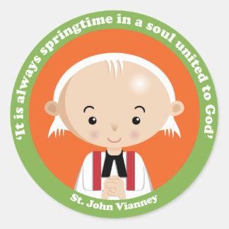 St. John Vianney Classic Round Sticker