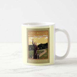 ST. JOHN VIANNEY CLASSIC WHITE COFFEE MUG