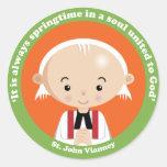 St. John Vianney Round Stickers