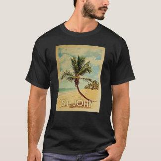 St. John Vintage Travel T-shirt - Beach