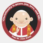 St. John XXIII Etiqueta Redonda