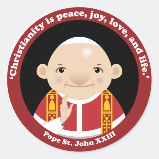 St. John XXIII Pegatina Redonda