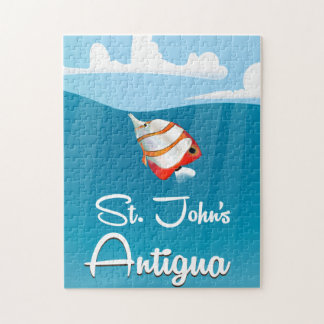 St. John's, Antigua and Barbuda Travel Poster Jigsaw Puzzle