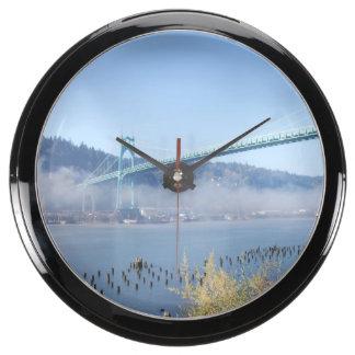 St. Johns Bridge, Beautiful Portland Oregon Aquavista Clocks