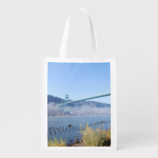 St. Johns Bridge, Beautiful Portland Oregon Grocery Bag