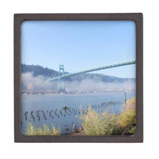 St. Johns Bridge, Beautiful Portland Oregon Jewelry Box