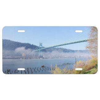 St. Johns Bridge, Beautiful Portland Oregon License Plate
