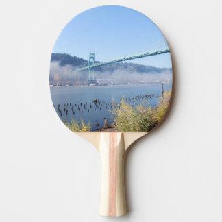 St. Johns Bridge, Beautiful Portland Oregon Ping-Pong Paddle