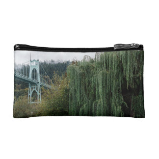 St. John's Bridge from Cathedral Park Cosmetic Bag