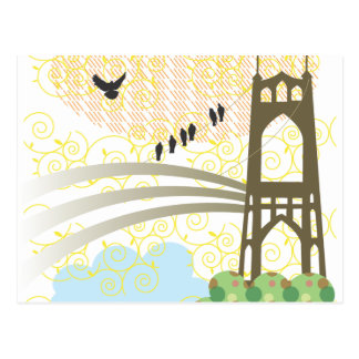 St. Johns Bridge Portland Postcard