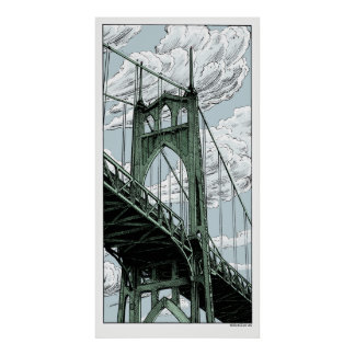 St Johns Bridge Poster