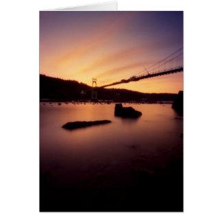 St Johns Bridge Sunset Card