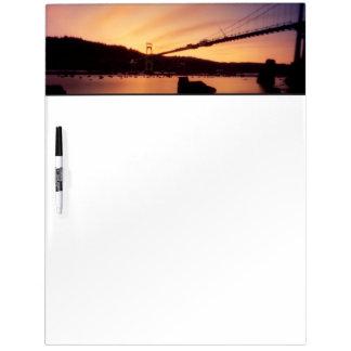 St Johns Bridge Sunset Dry Erase Whiteboard