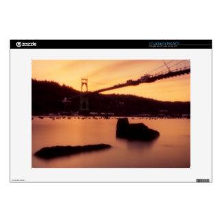 "St Johns Bridge Sunset Decals For 15"" Laptops"