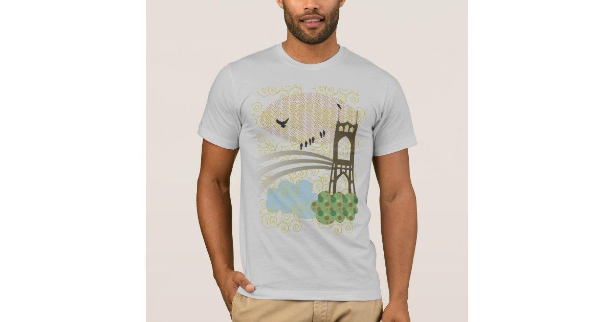 St Johns Bridge T Shirt Zazzle