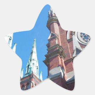 St. John's Church in Helsinki Star Sticker