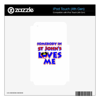St John's City Designs iPod Touch 4G Decals