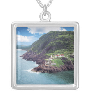 St. John's, Newfoundland, Canada, historic Fort Silver Plated Necklace