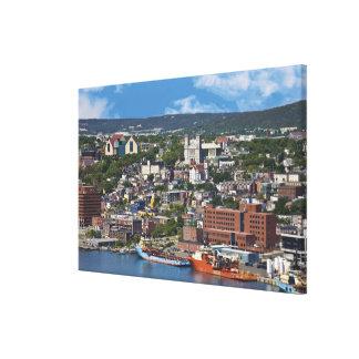 St. John's, Newfoundland, Canada, the coastline Canvas Print