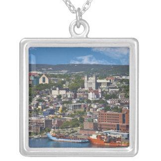 St. John's, Newfoundland, Canada, the coastline Silver Plated Necklace