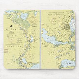St. Johns River, Florida Nautical Chart Mouse Pad