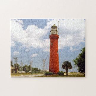 St John's River Lighthouse, Mayport Florida Jigsaw Puzzle