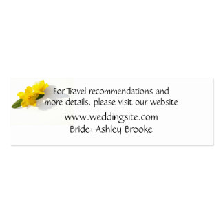 St. John's Wort - Hypericum Website Enclosure Double-Sided Mini Business Cards (Pack Of 20)