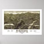 St. Johnsbury, mapa panorámico del VT - 1884 Póster