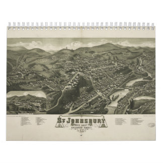 St. Johnsbury Vermont 1884 Calendar
