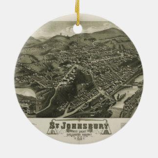 St. Johnsbury Vermont 1884 Ceramic Ornament