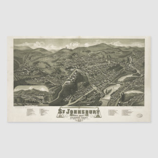 St. Johnsbury Vermont 1884 Rectangular Sticker
