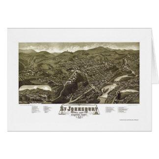 St. Johnsbury, VT Panoramic Map - 1884 Cards