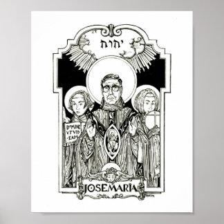 St. Josemaria Escriva Poster