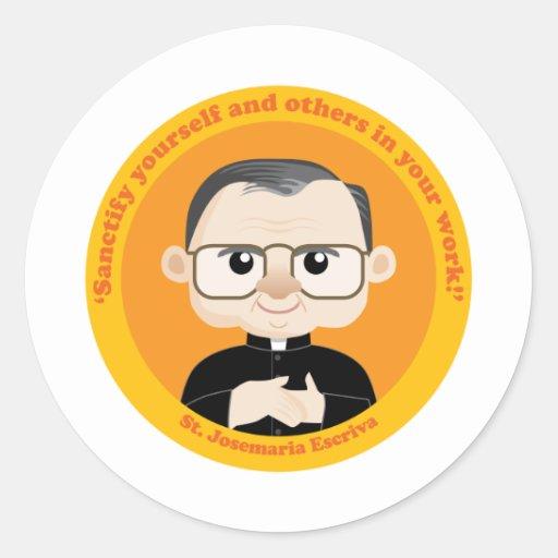 St. Josemaria Escriva Round Sticker