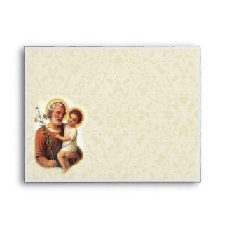 St. Joseph A7 Envelope with lace background