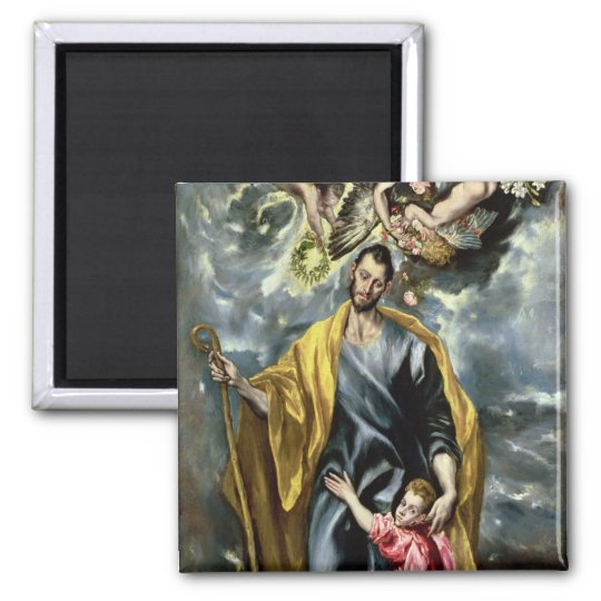 St. Joseph and the Christ Child, 1597-99 2 Inch Square Magnet