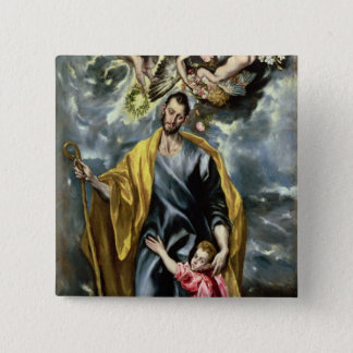 St. Joseph and the Christ Child, 1597-99 Pinback Button