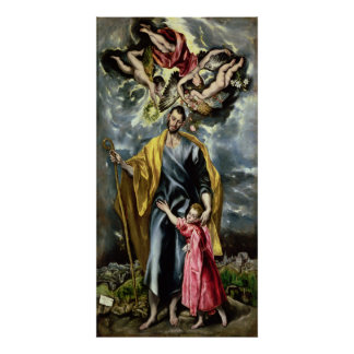 St. Joseph and the Christ Child, 1597-99 Poster