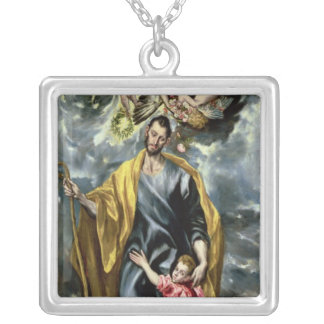 St. Joseph and the Christ Child, 1597-99 Silver Plated Necklace