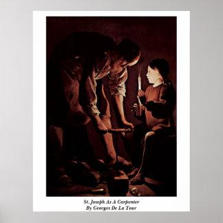 St. Joseph As A Carpenter By Georges De La Tour Poster