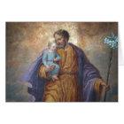 St. Joseph Baby Jesus Cross Lily Card