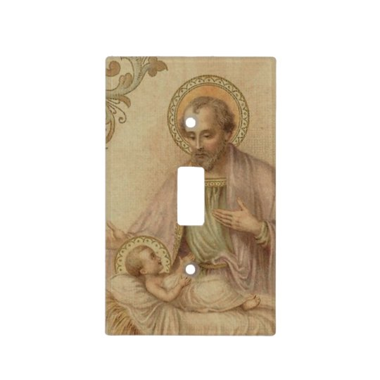 St Joseph Baby Jesus Manger Light Switch Cover Zazzlecom